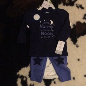Carter's 3 pc. I Love Mommy to the Moon and Back